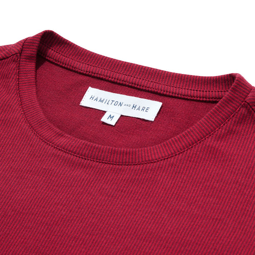 Relax T-Shirt - Red Stripe - Hamilton and Hare Ltd