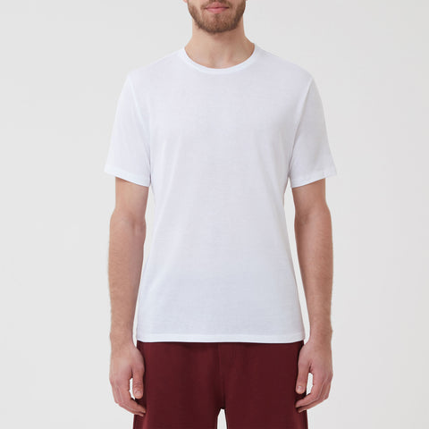 Tubular Crew Neck 5 Pack White