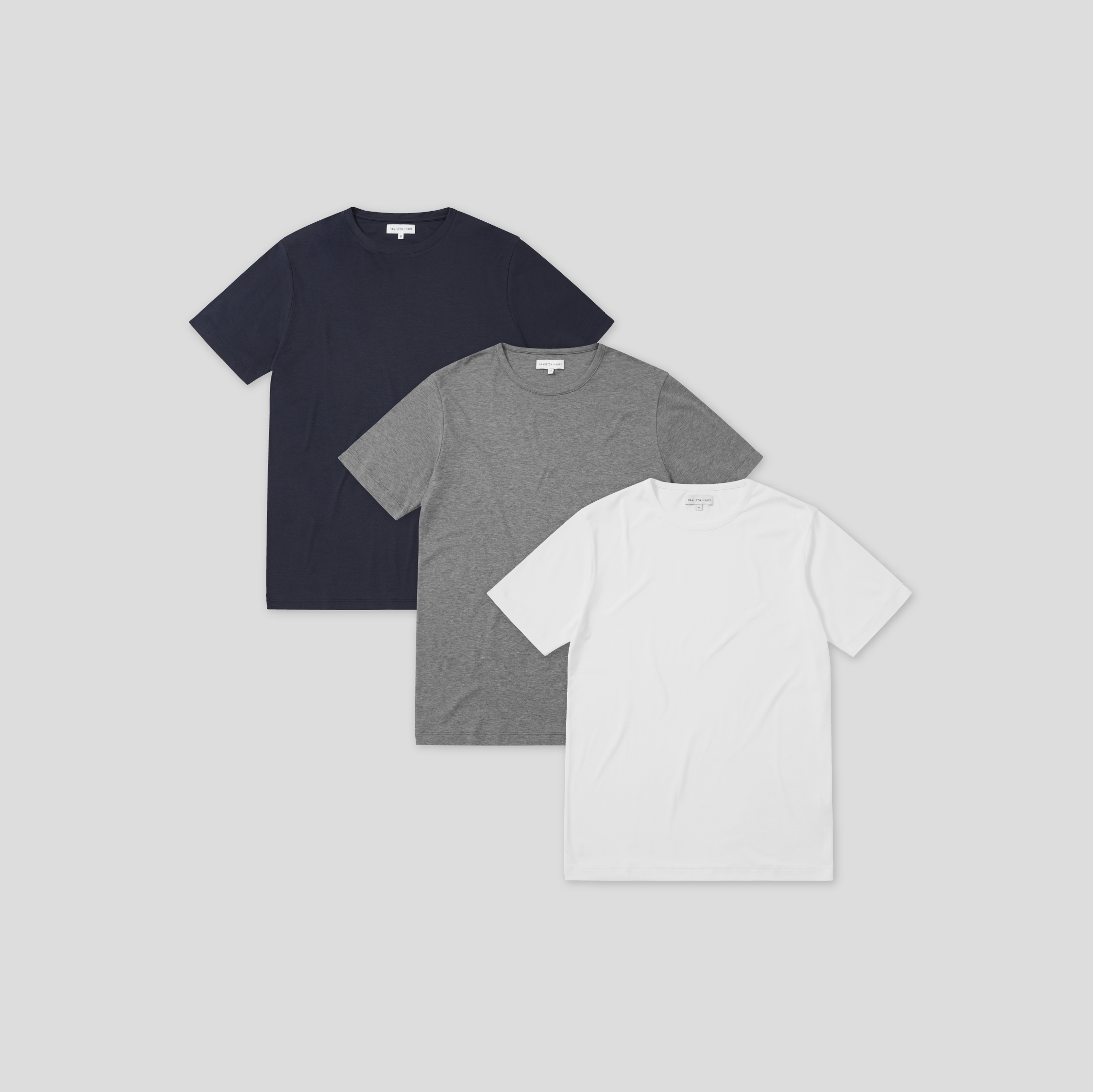 3 Mix Pack Relax Tee - Navy, White, Grey