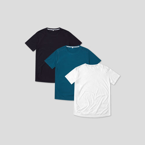 3 Pack Seamless T-Shirt - Navy, Legion Blue, White