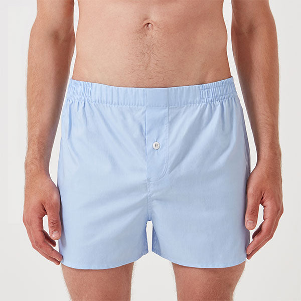 Monogrammed Boxer Short - Sky Blue - Hamilton and Hare Ltd