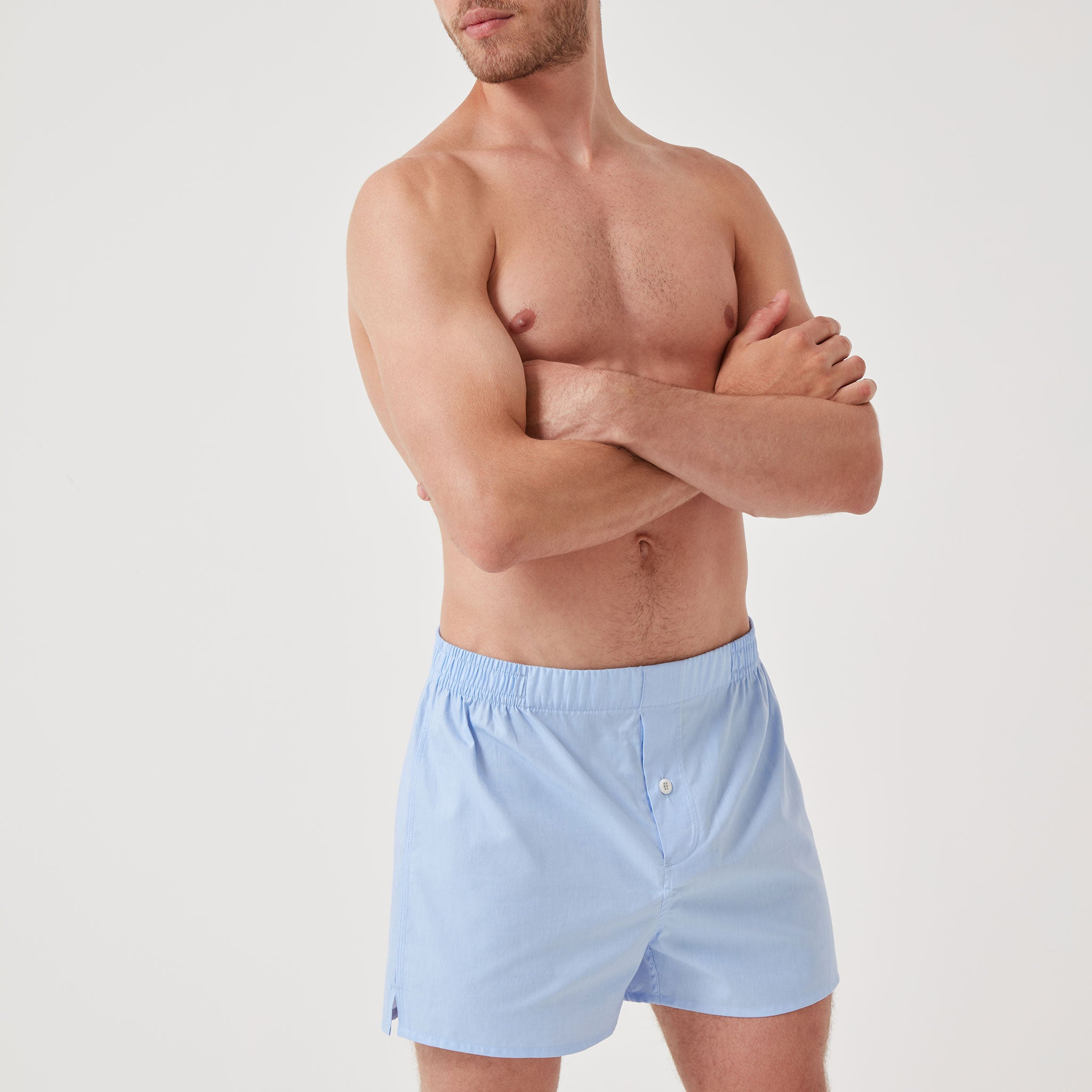 3 Pack Boxer Short - Sky Blue - Hamilton and Hare Ltd