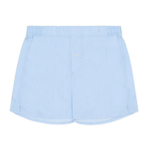 Cotton Cashmere Boxer Short Chambray Blue