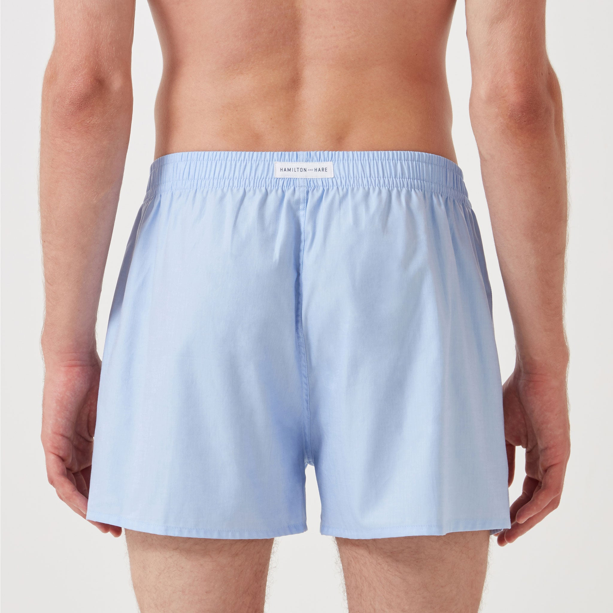 5 Pack Boxer Short - Sky Blue - Hamilton and Hare Ltd