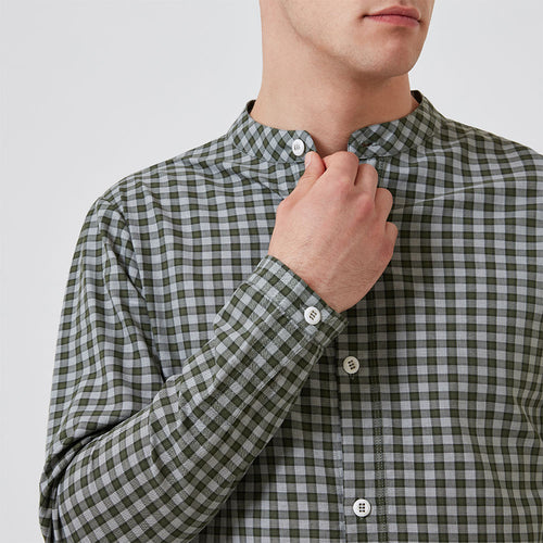 Sleep Shirt - Olive Check - Hamilton and Hare Ltd