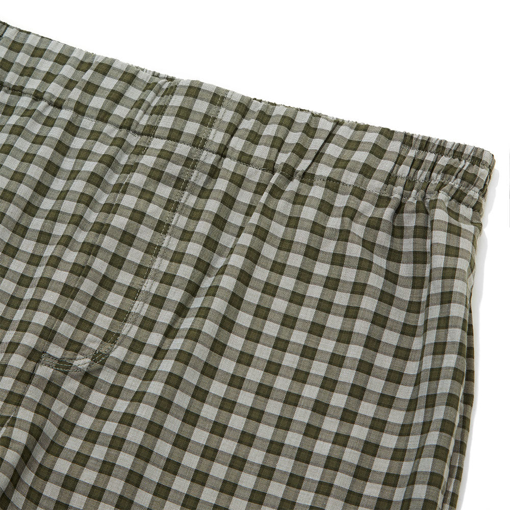 Cotton Cashmere Sleep Trouser - Olive Check
