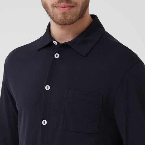 Hamilton and Hare Slip-on-Shirt Navy