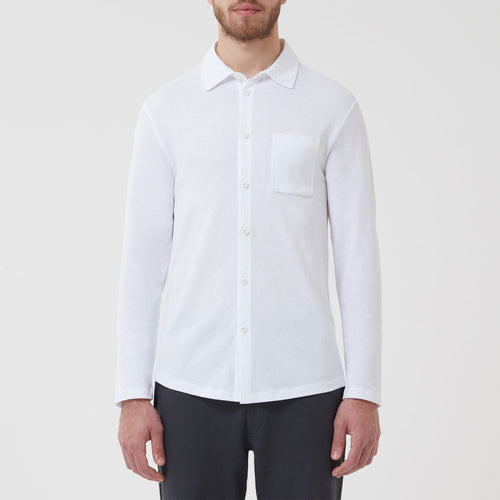 Slip-on Shirt White - Hamilton and Hare Ltd