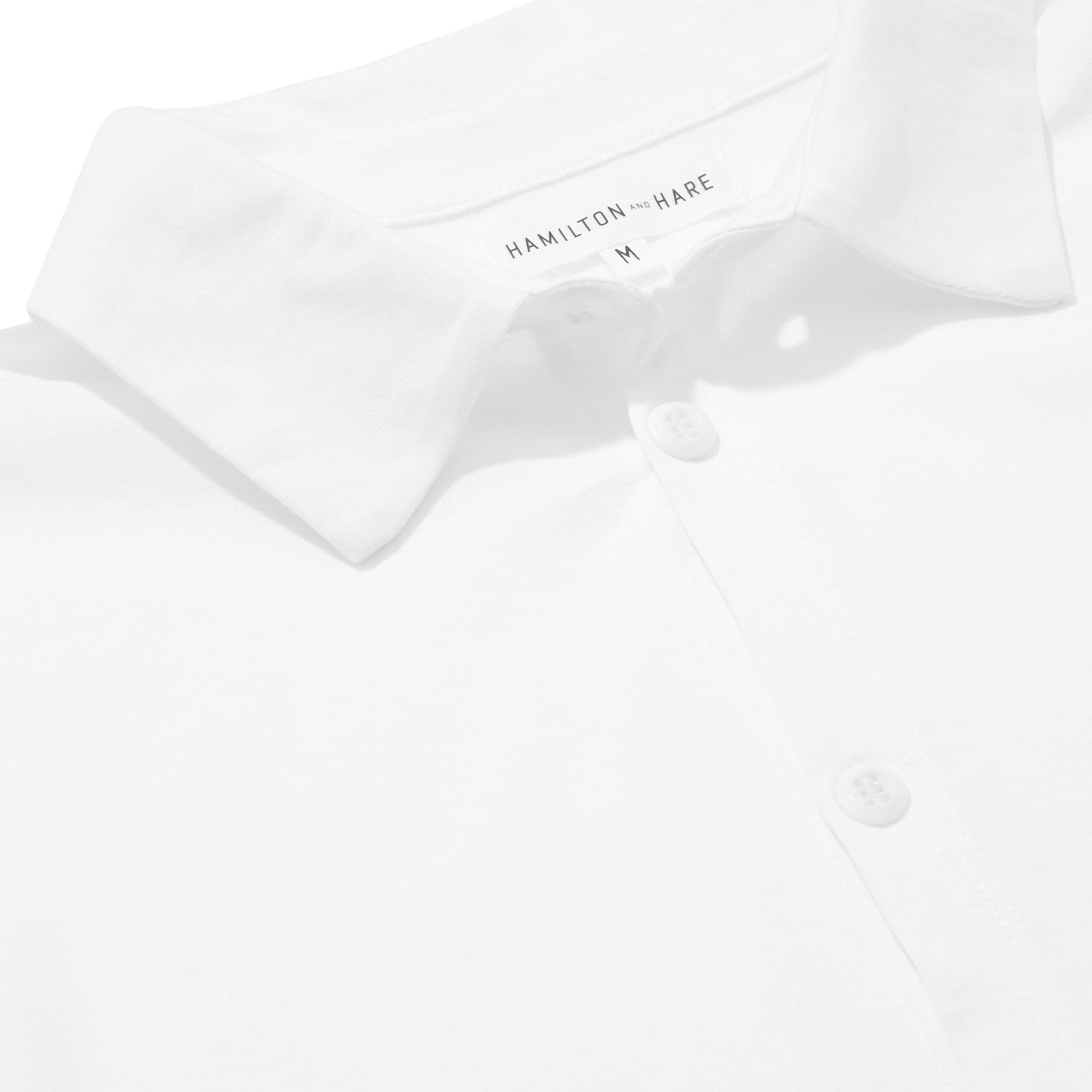 Hamilton and Hare Slip-on Shirt White