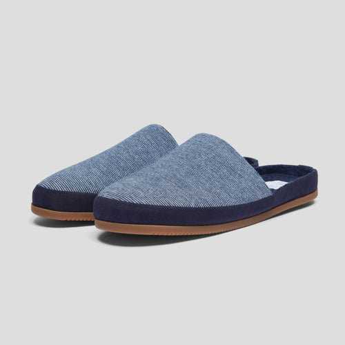 Mulo x HH Slipper - Blue Stripe