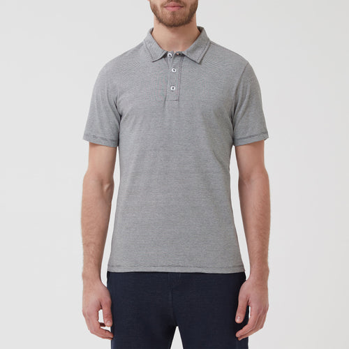 Soft Stitch Polo Navy Stripe