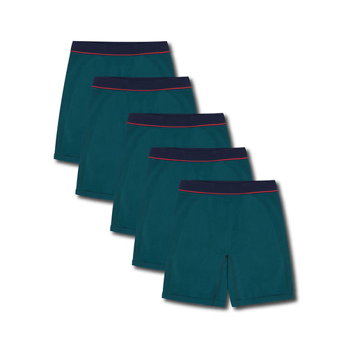 5 Pack Sport Trunk Club Green - Hamilton and Hare Ltd