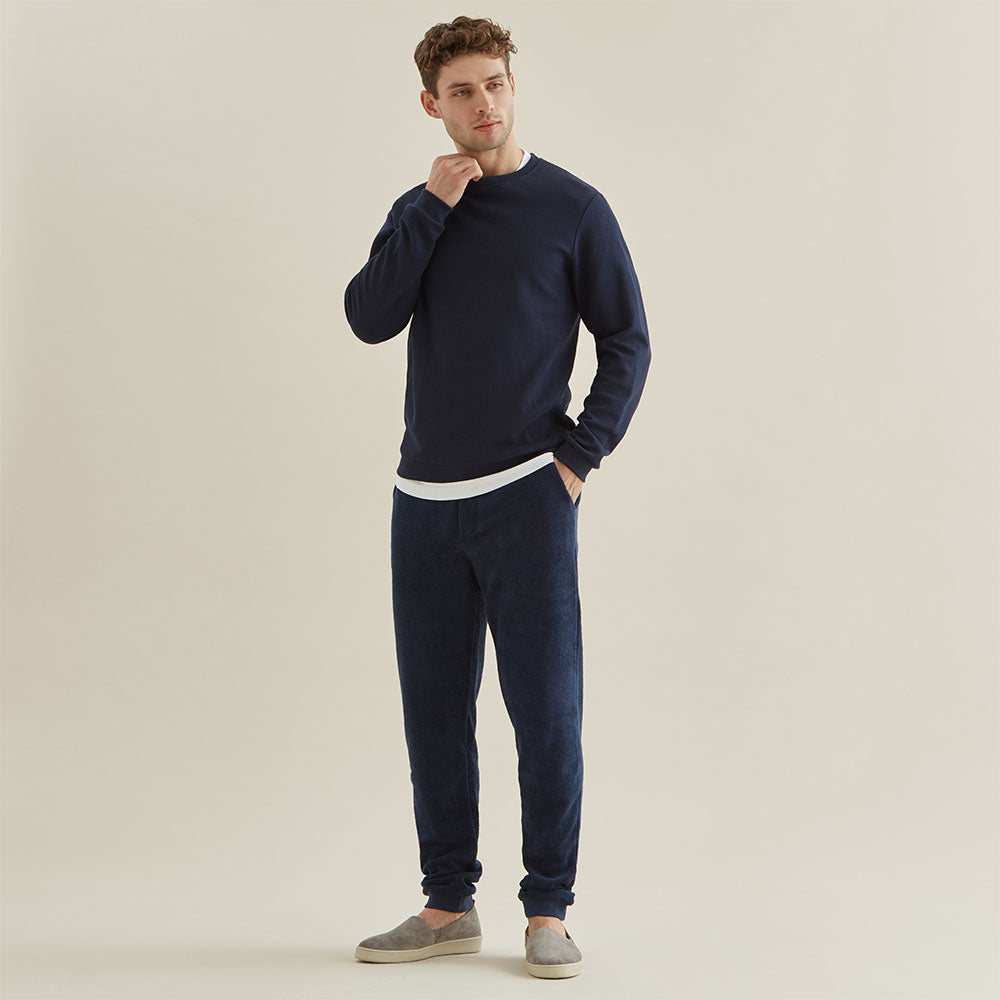 Sweatshirt - Navy Texture - Hamilton and Hare Ltd