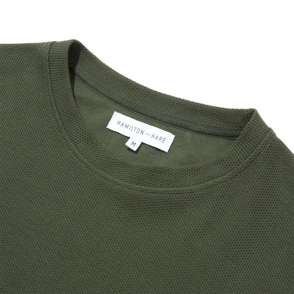 Sweatshirt - Olive Texture - Hamilton and Hare Ltd