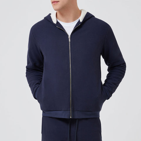 Terry Towelling Sweatshirt - Navy