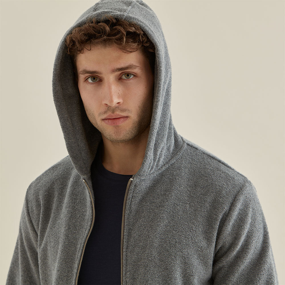 Terry Towelling Hood - Grey - Hamilton and Hare Ltd