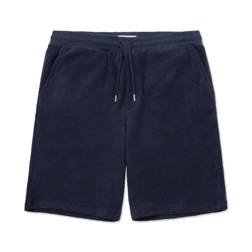Terry Towelling Drawstring Short - Navy - Hamilton and Hare Ltd