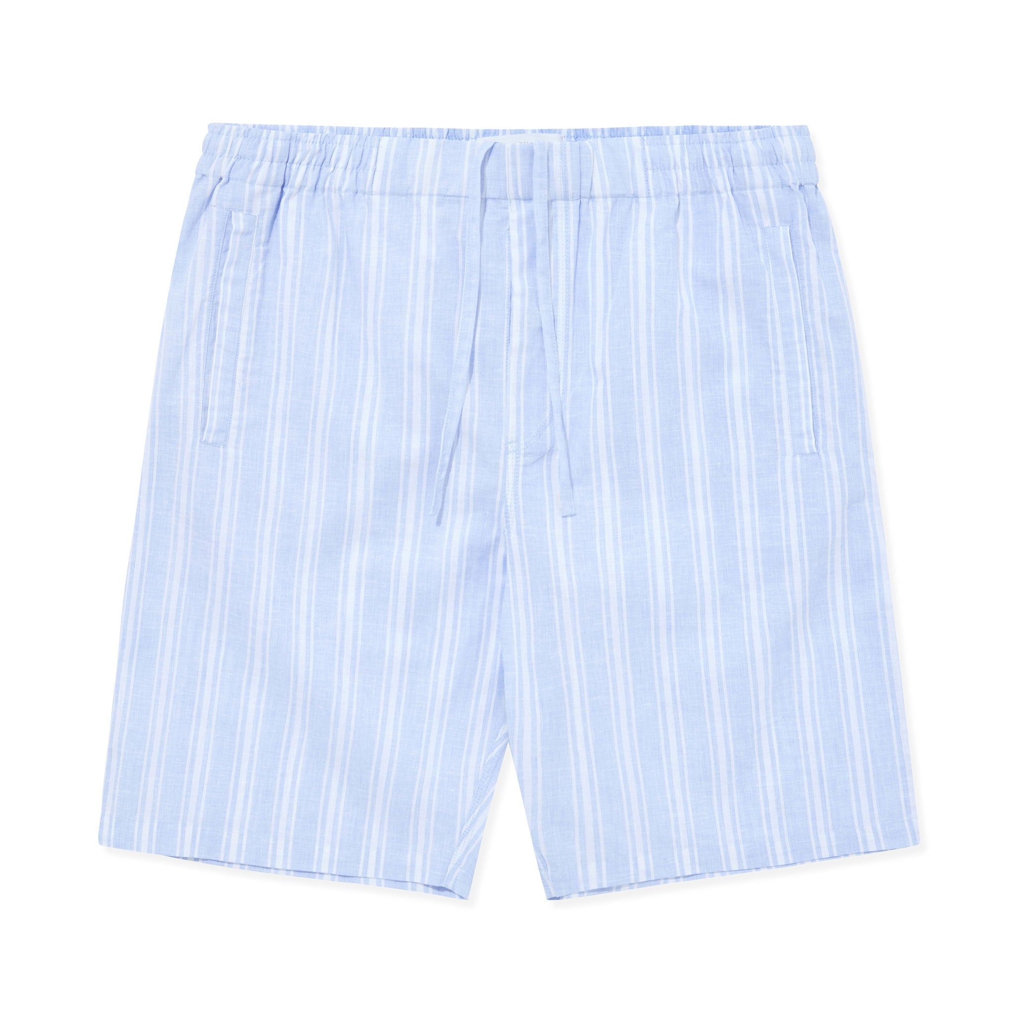 Timeout Drawstring Linen-Cotton Short - Blue Stripes