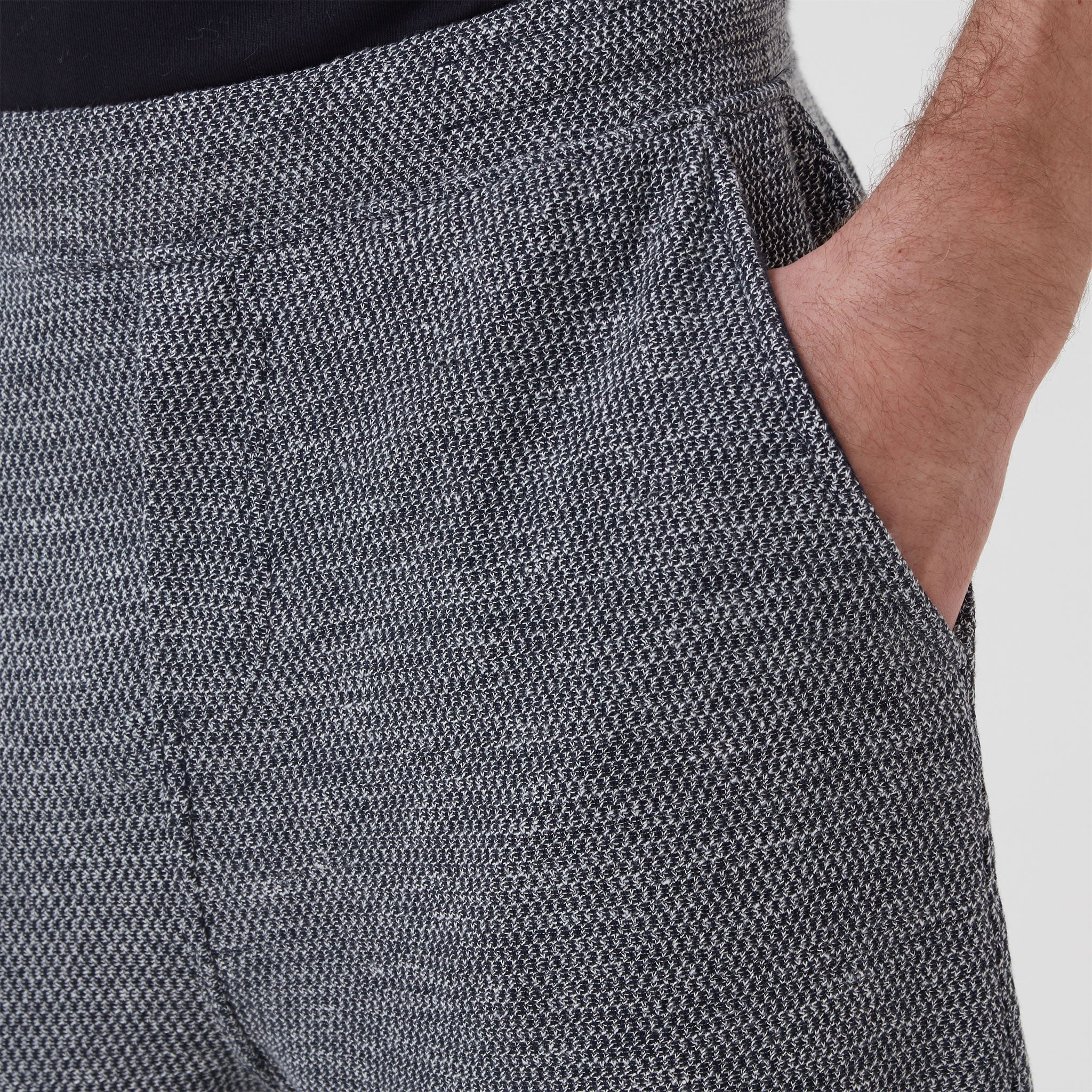 Hamilton and Hare Timeout Trousers Grey Navy