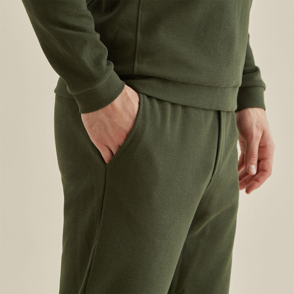Drawstring Trouser - Olive Texture - Hamilton and Hare Ltd