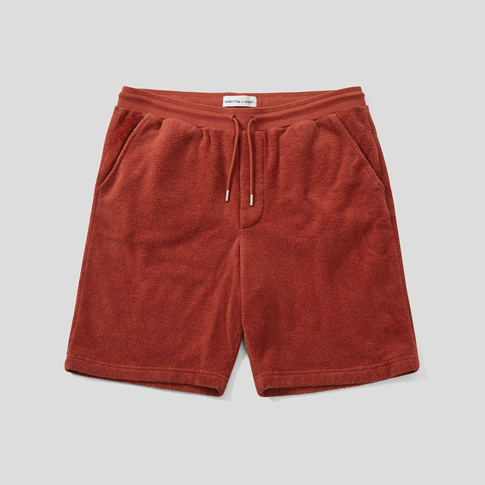 Terry Towelling Drawstring Shorts - Tobacco