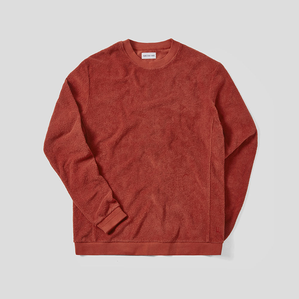Terry Towelling Sweatshirt - Tobacco