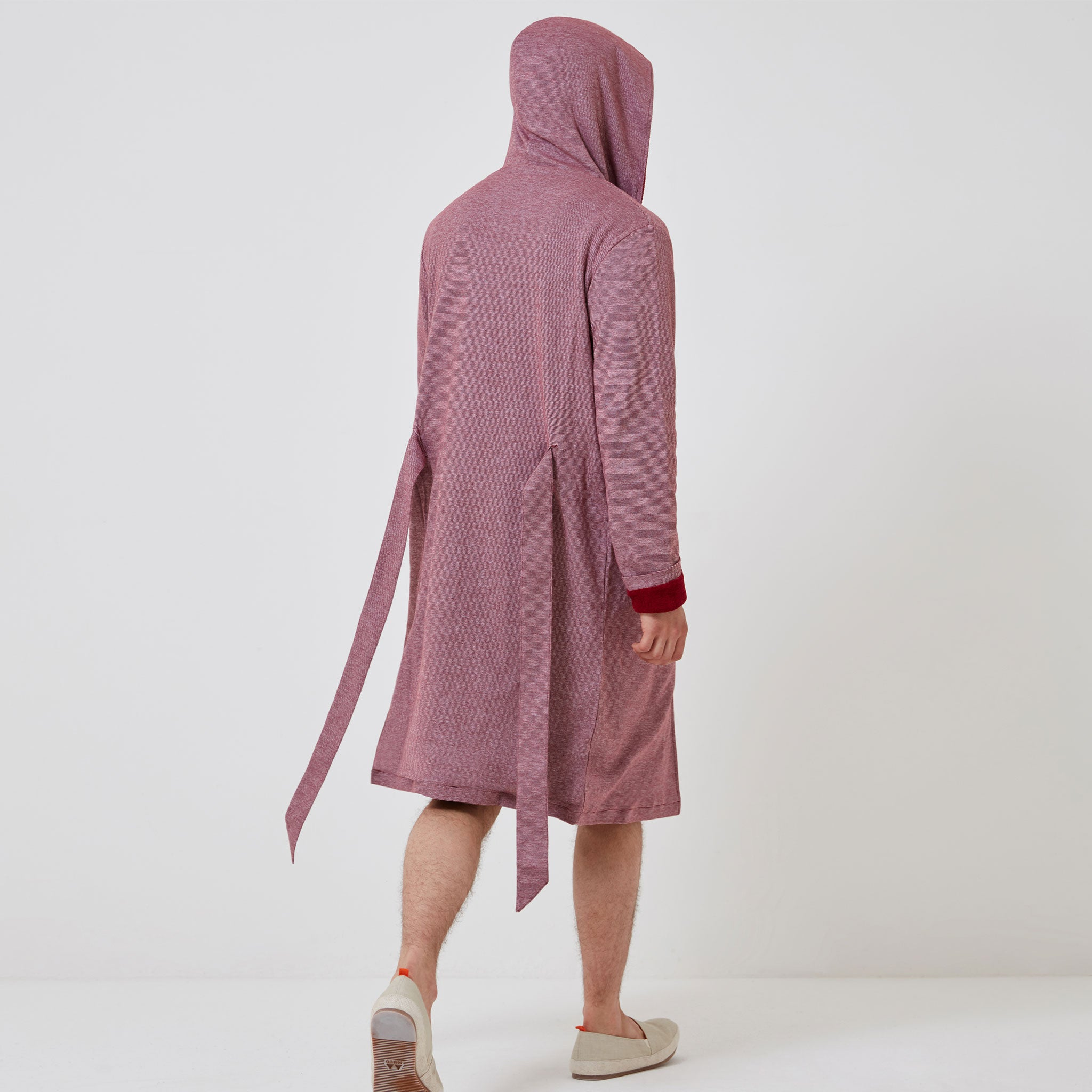 Towelling Robe - Red Stripe