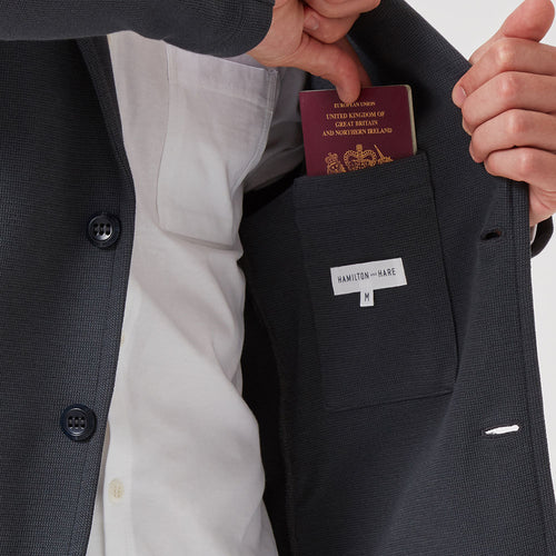 Travel Blazer Charcoal - Hamilton and Hare Ltd