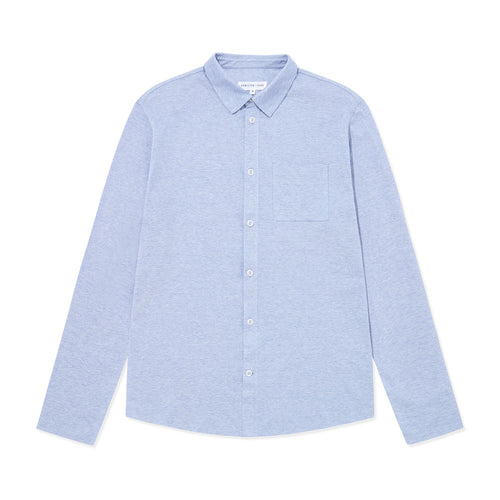 Pique Travel Shirt - Cloud Blue - Hamilton and Hare Ltd