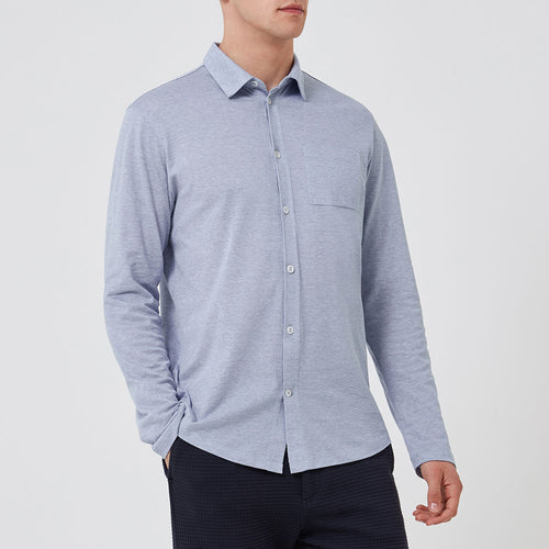Pique Travel Shirt - Cloud Blue