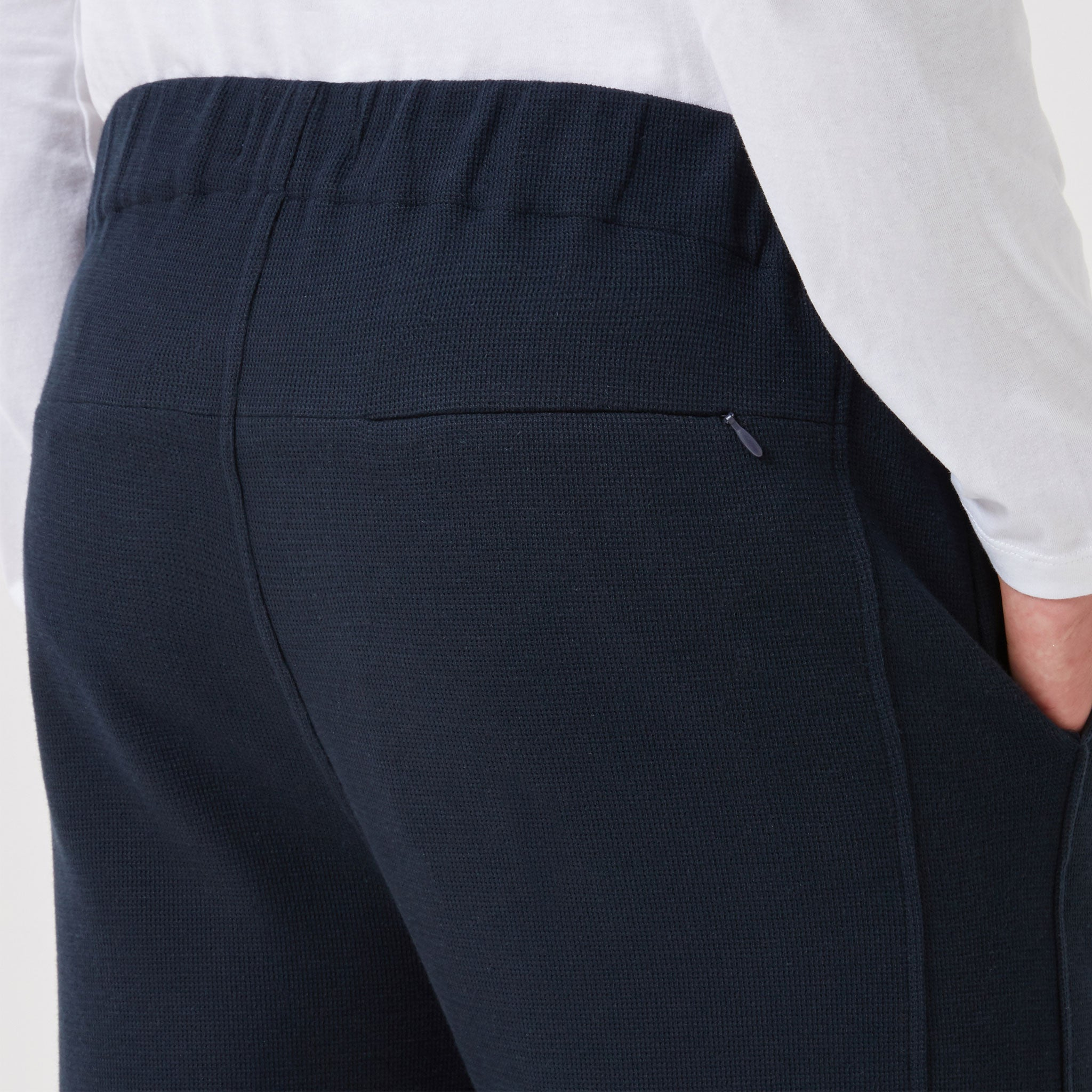 Travel Trousers Navy - Hamilton and Hare Ltd