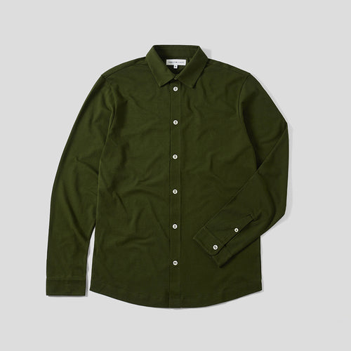 Pique Travel Shirt - Olive