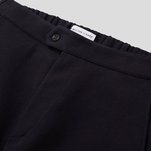 Travel Trousers - Navy Microwaffle