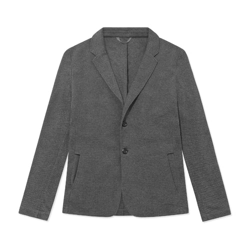 Travel Blazer - Charcoal Waffle - Hamilton and Hare Ltd