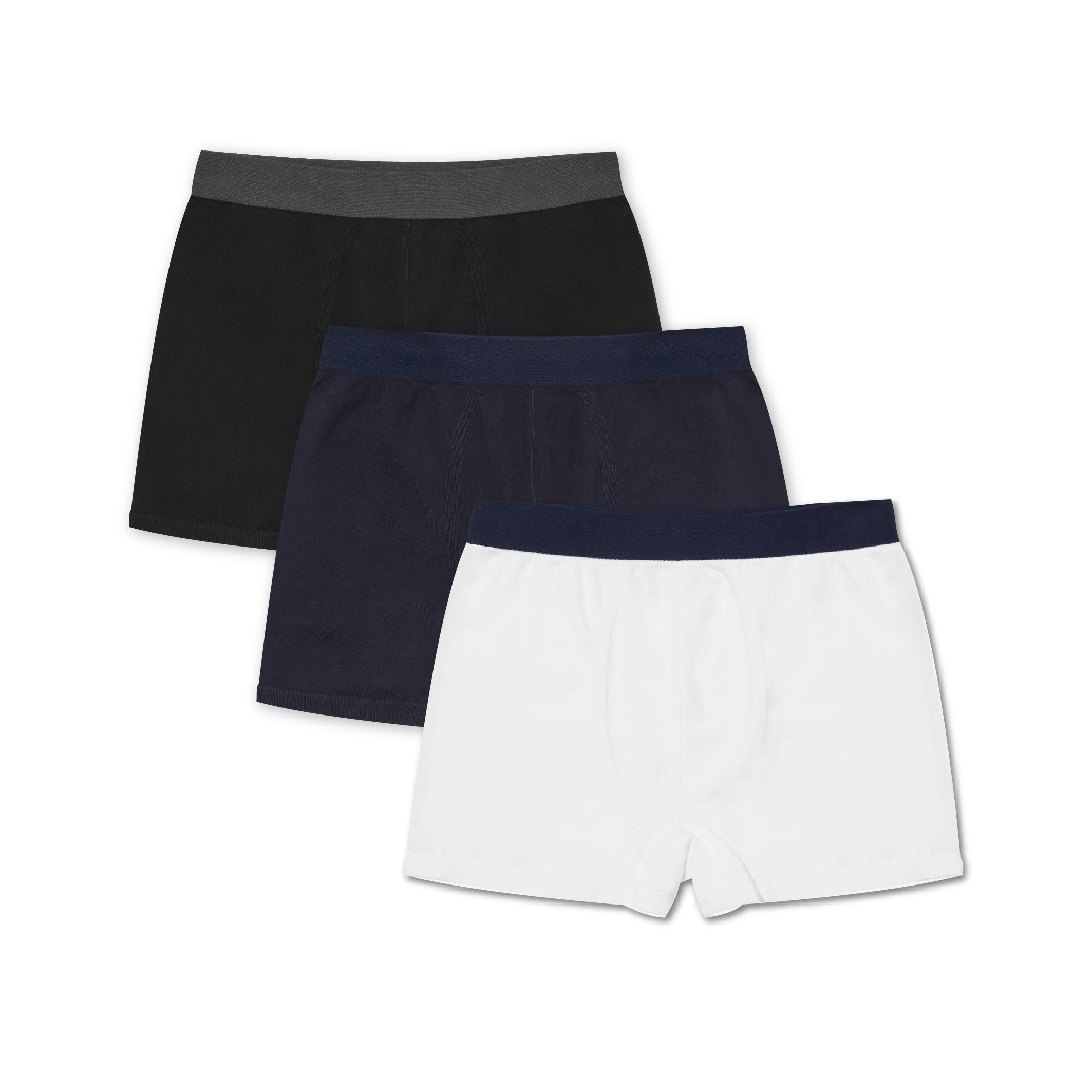 3 Pack Trunk Mix - Navy, White, Black - Hamilton and Hare Ltd