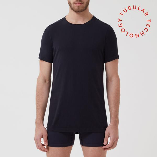Tubular Crew Neck 3 Pack Navy - Hamilton and Hare Ltd