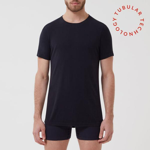 Seamless T-Shirt 3 Pack Navy - Hamilton and Hare Ltd