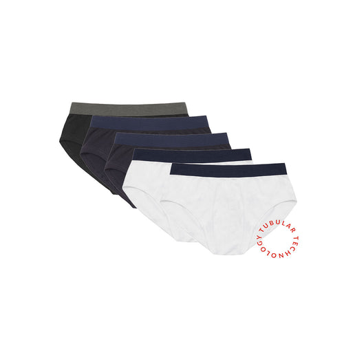 Working Week 5 Pack Tubular Slips - Navy, White, Black