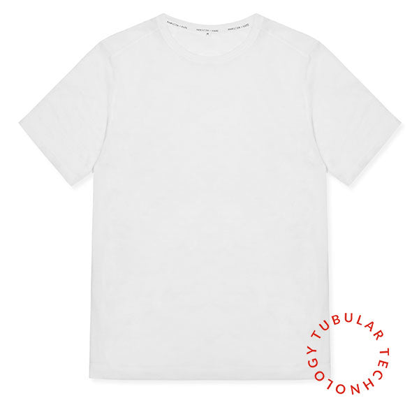 Tubular Crew Neck 3 Pack White - Hamilton and Hare Ltd
