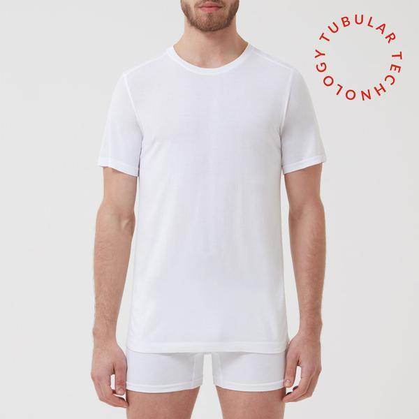 Tubular Crew Neck 3 Pack White