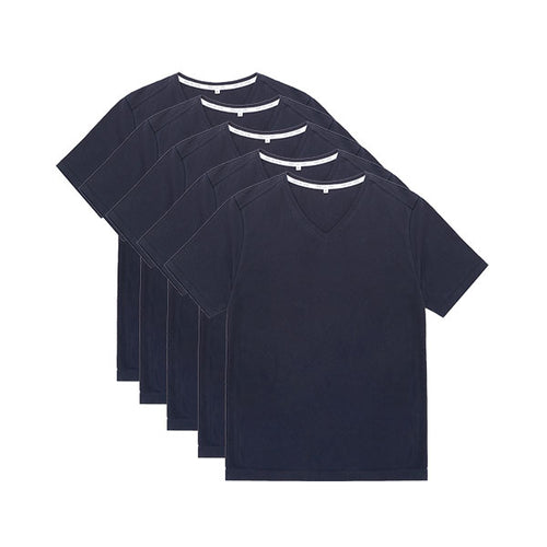 Tubular V-Neck Tee 5 Pack Navy