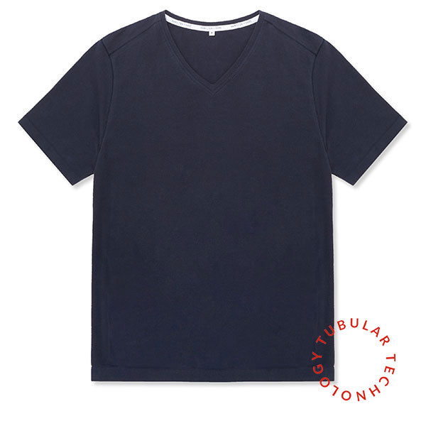 Tubular V-Neck Tee 3 Pack Navy - Hamilton and Hare Ltd