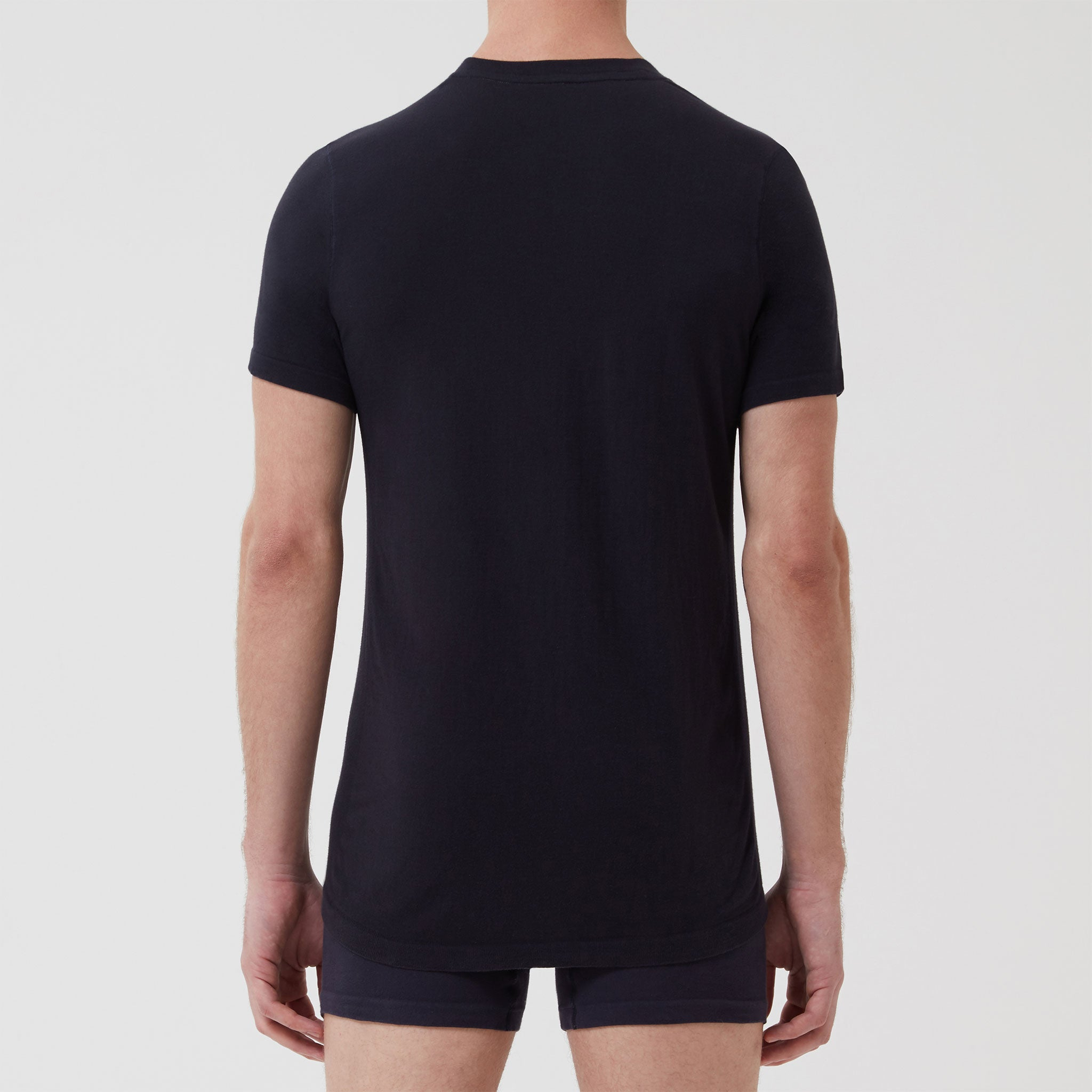 Hamilton and Hare Tubular V-Neck Tee Navy