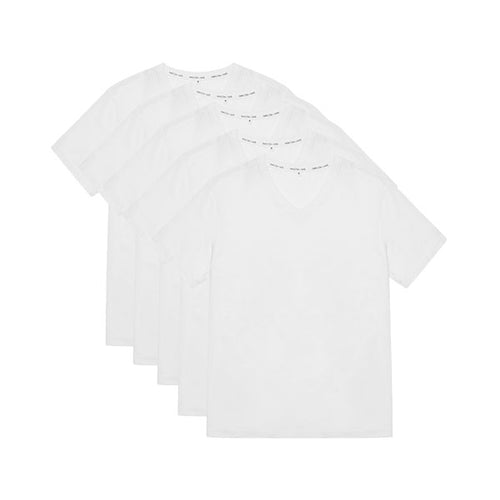 Tubular V-Neck Tee 5 Pack White