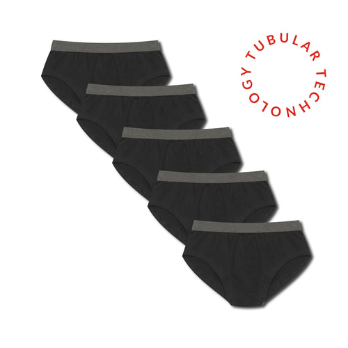 5 Pack Tubular Slips - Black - Hamilton and Hare Ltd