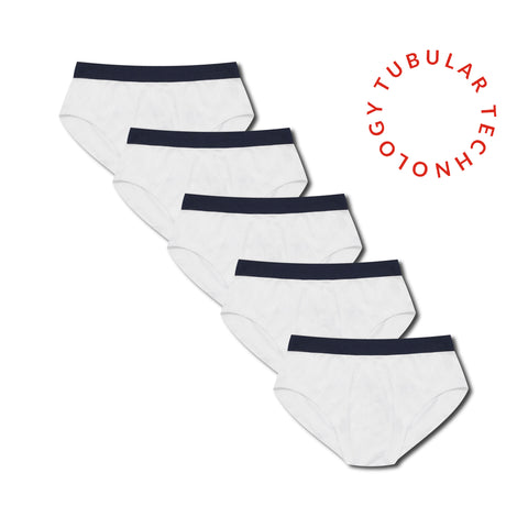 Working Week 5 Pack Tubular Slips - Navy