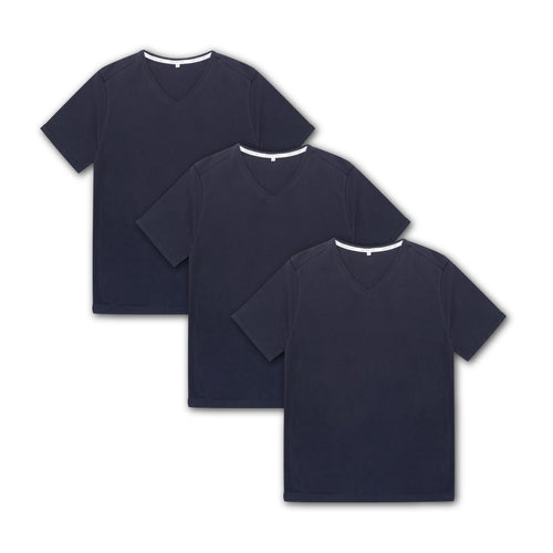 Tubular V-Neck Tee 3 Pack Navy