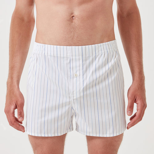 Boxer Short White Stripe