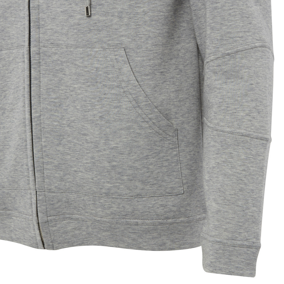 Grey Spacer Lux Hooded Sweat