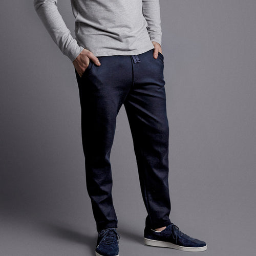 Navy Lux Drawstring Trouser